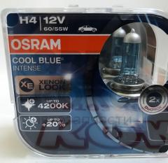 Лампа галогенная Osram 64193CBI-DUO H4 COOL BLUE INTENSE 60/ 55W12V